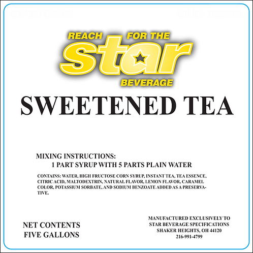 Sweetened Tea