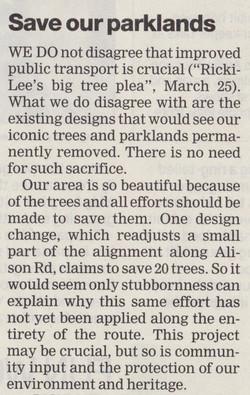 Save our parklands