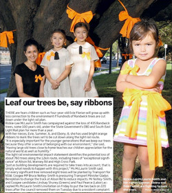 """""""Leaf our trees be, say ribbons"""""""