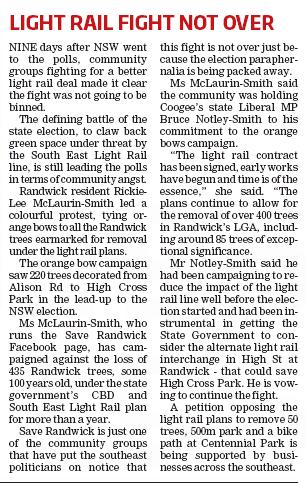 Light Rail Fight Not Over