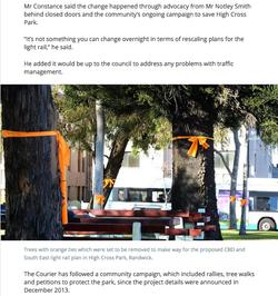 High Cross Park saved