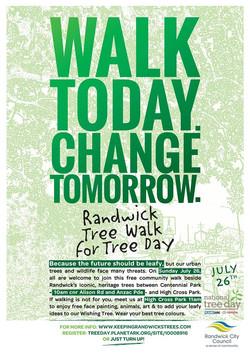 Randwick Tree Walk 2015 poster