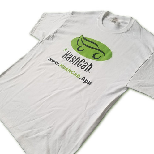 HashCab Basic White Tee Delivery