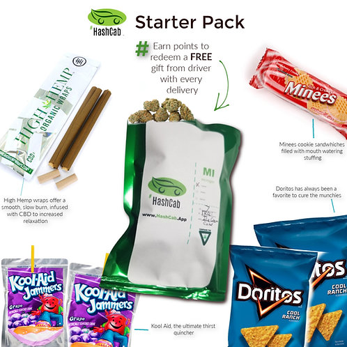 #HashCab Starter Pack Delivery(3pts)