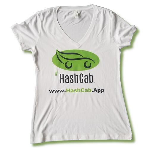 HashCab Ladies Basic White Tee