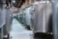 Modern Beer Factory. Small steel tanks f