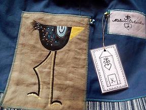 originální ručně šitá taška