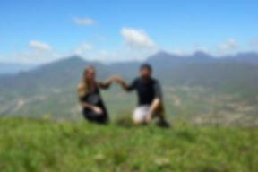 Hermann + Kati auf Wodehouse Peak