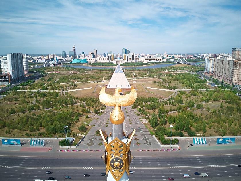 Blick auf Astana von oben