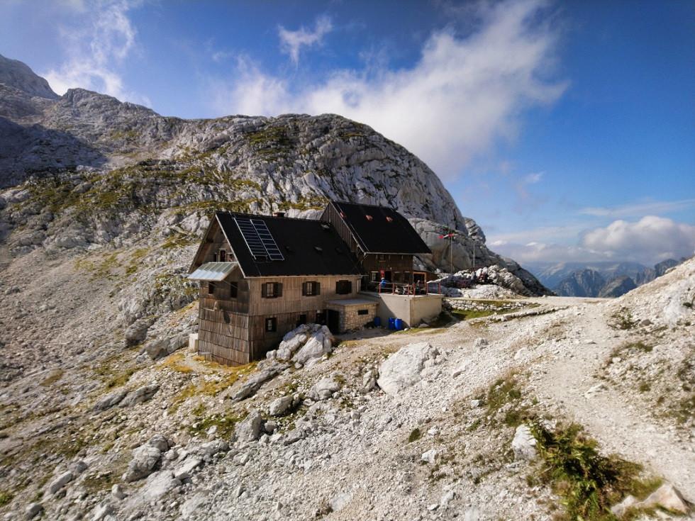 Berghütte in den Julischen Alpen