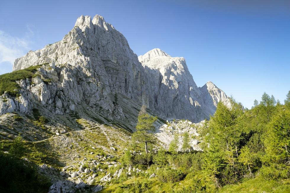 Bergmassiv an der Slemenova Špica