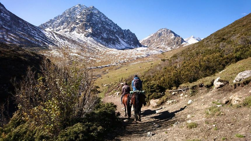 Pferdetrekking in Kirgisistan