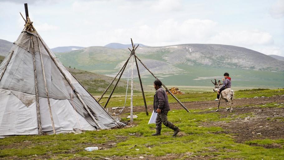 Das Camp der Rentiernomaden