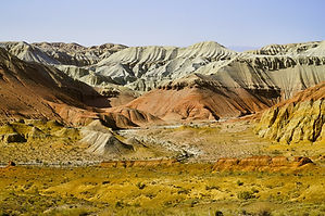 bunte berge im Altyn Emel Nationalpark.j