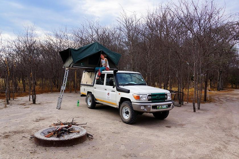 Mitten in der Wildnis campen - South Camp- Nxai Pan