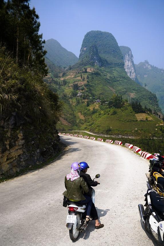 Bergstrasse im Norden Vietnams