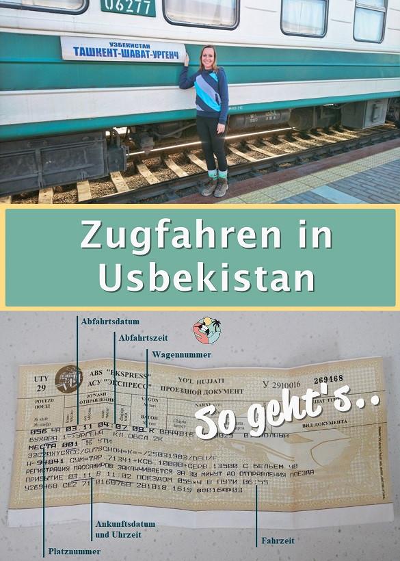 Zugfahren in Usbekistan - Pin