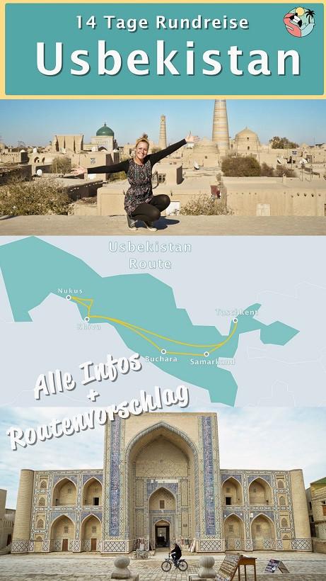 Rundreise Usbekistan - Pin