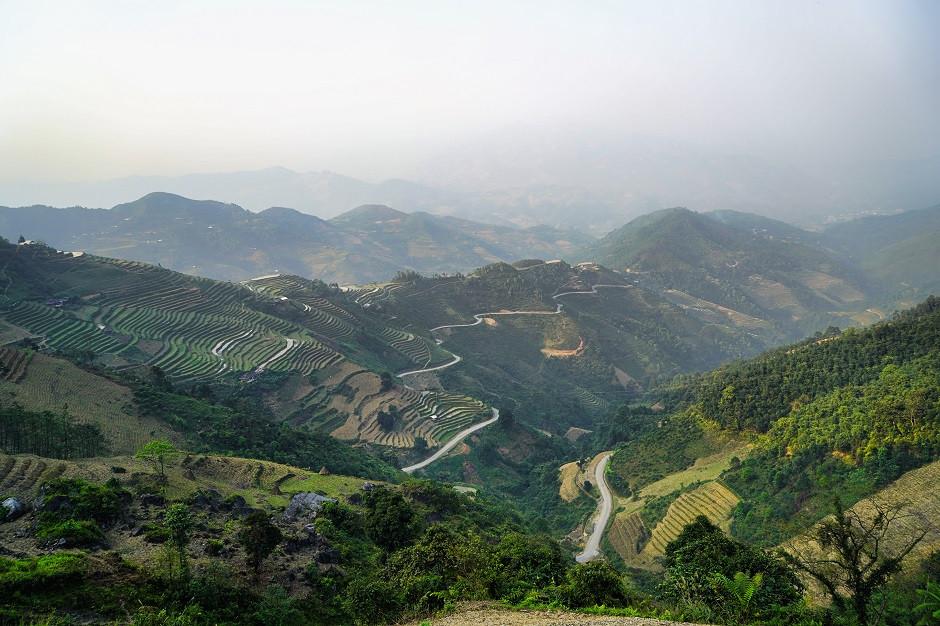 Hügellandschaft bei Meo Vac