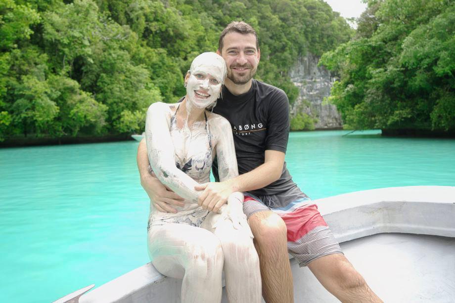 Kati und Hermann am Milky Way auf Palau