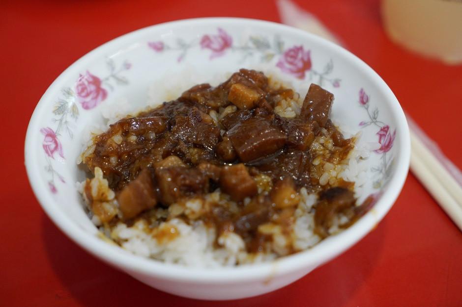 Geschmorter Schweinebauch mit Reis