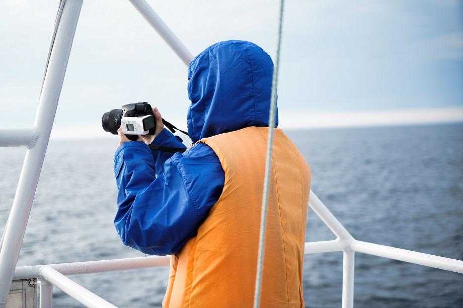Blick auf's Meer von einem der Ausflugsboote