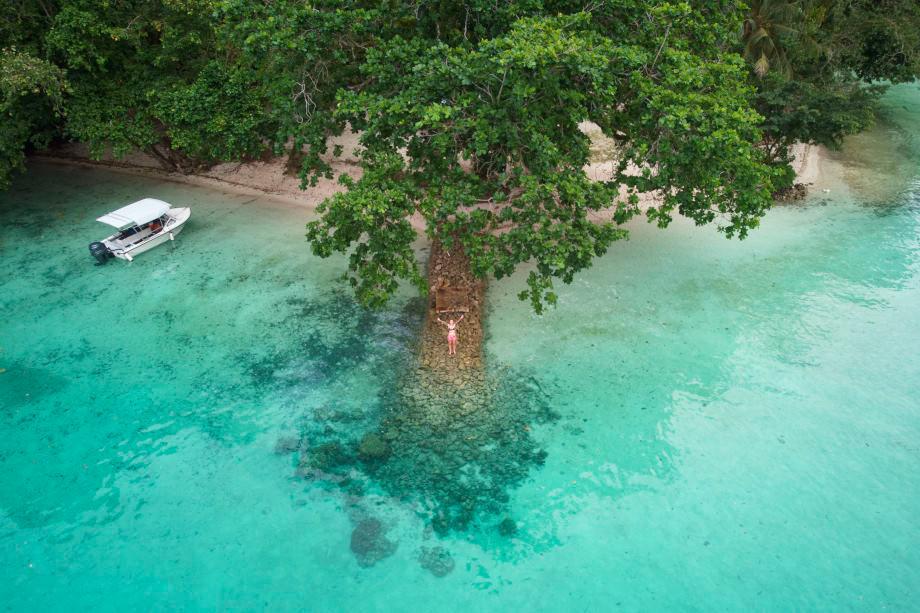 Einsame Bucht auf Palau