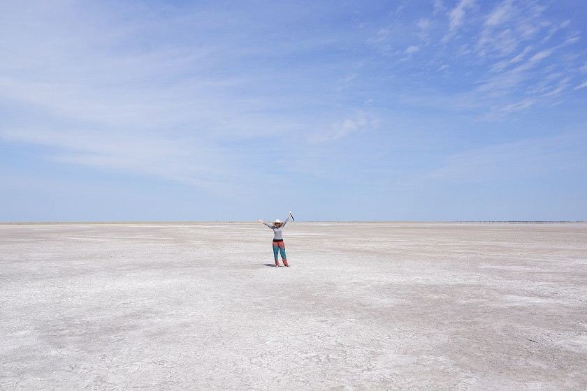 Mitten im Nirgendwo - Nwtetwe Pan - Botswana