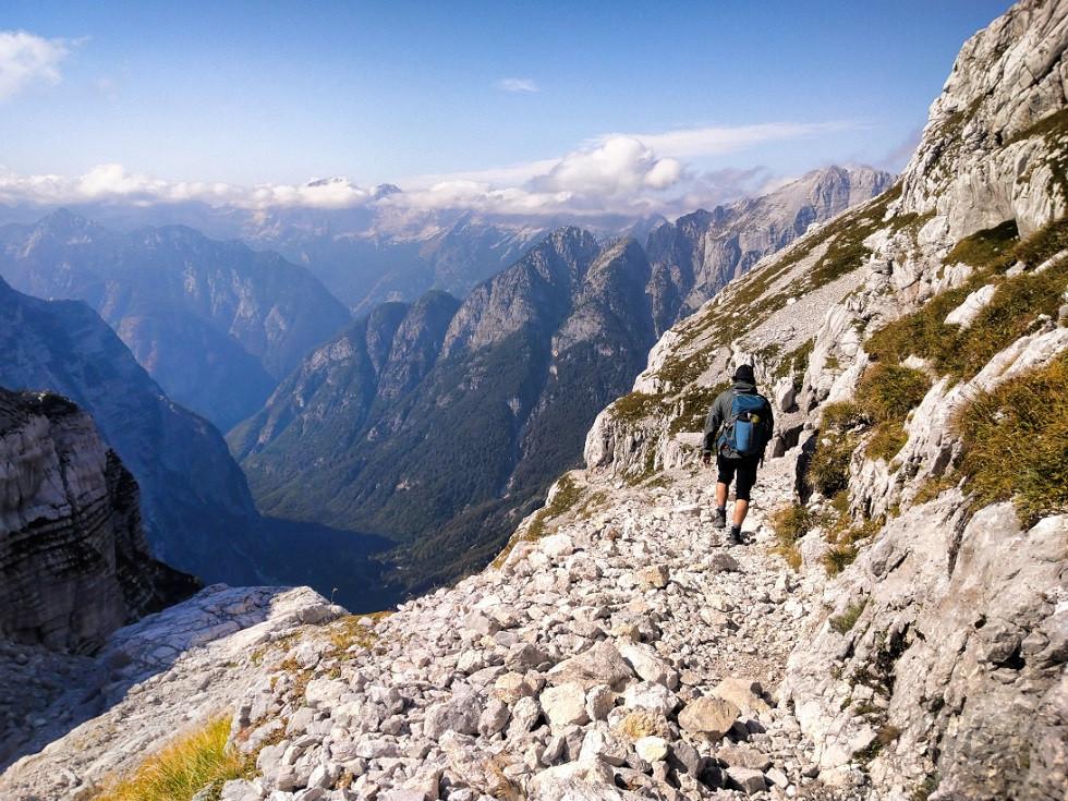 Hoehenwanderung in den Julischen Alpen