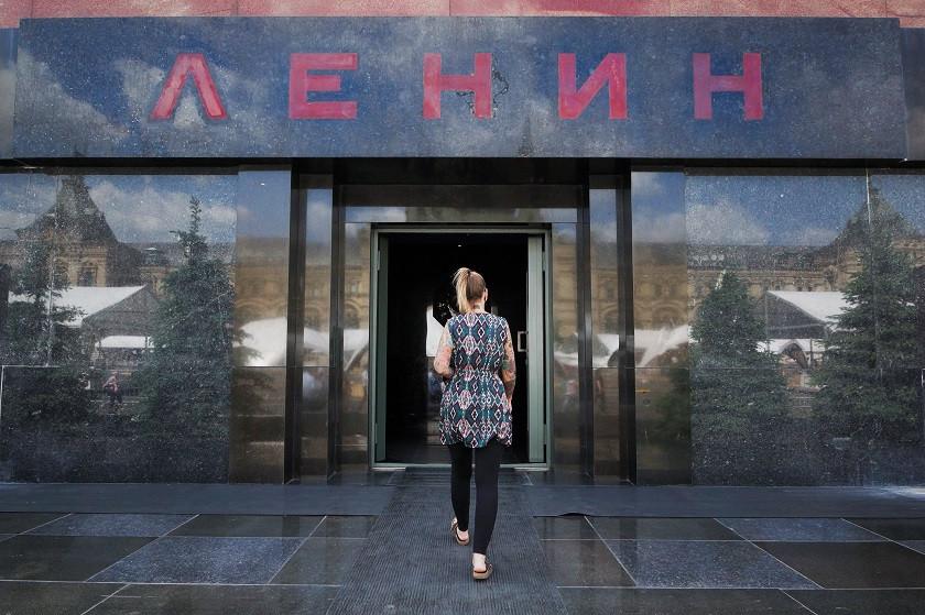 Eingang zum Lenin Mausoleum - Moskau