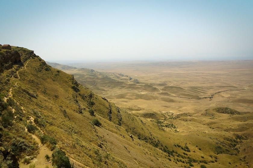 Steppenlandschaft in Georgien