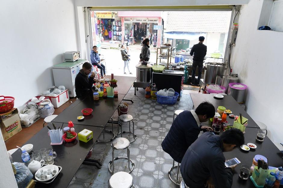 Einfaches Restaurant in Vietnam