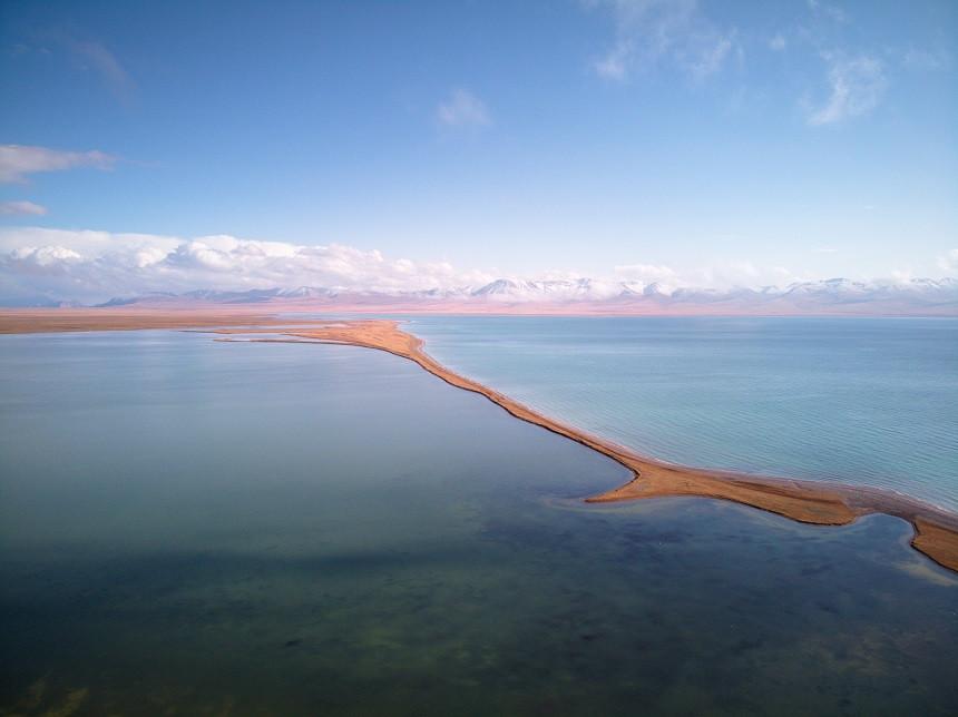 Song Kul See aus der Luft
