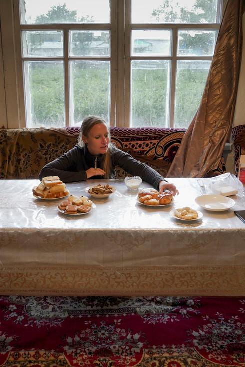 Rustikales Essen in Kasachstan