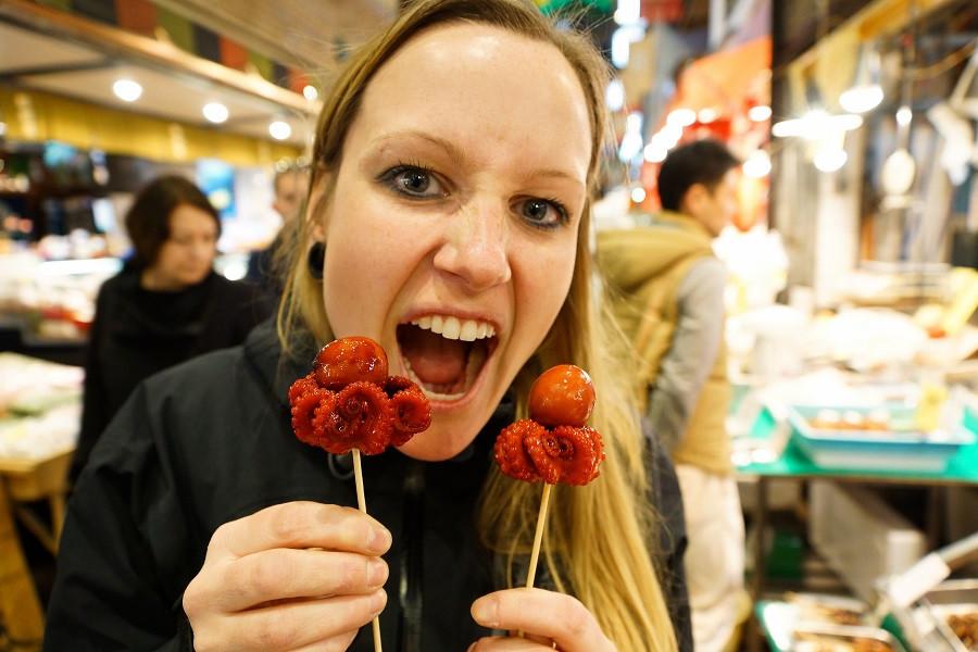 Oktopus Snack - Nishiki Markt - Kyoto