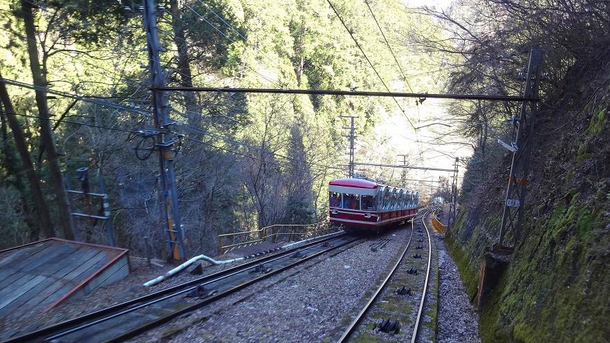 Cable Car auf dem Weg nach Koya-San
