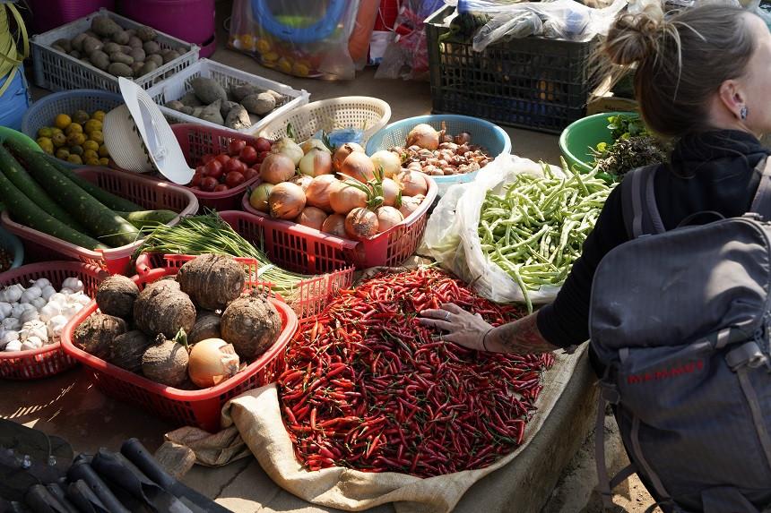 Markt in Nordvietnam