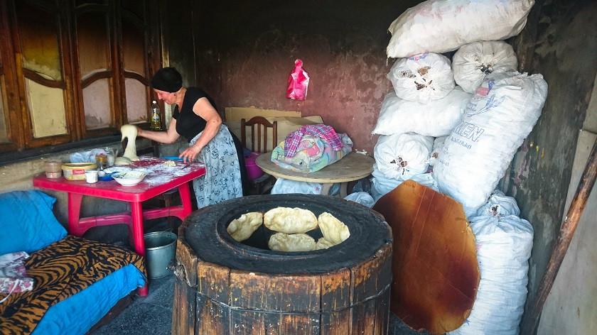 Traditionelle Bäckerei in Georgien