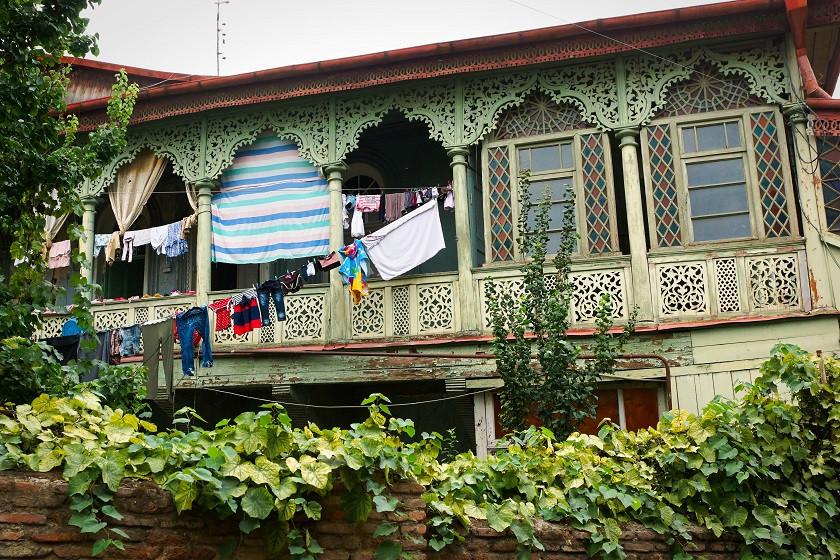 Typisches Gästehaus in Georgien