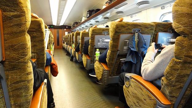 Shinkansen Zugabteil von Innen