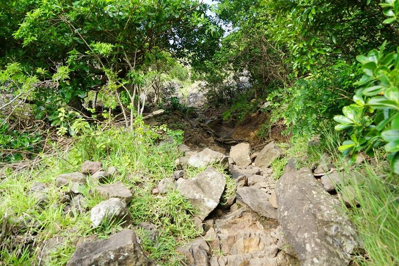 Steile Kletterpartie - Le Morne Brabant