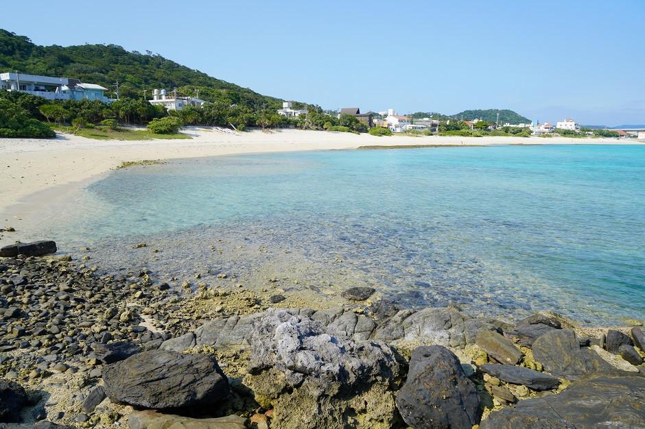 Blick auf den Aka Beach