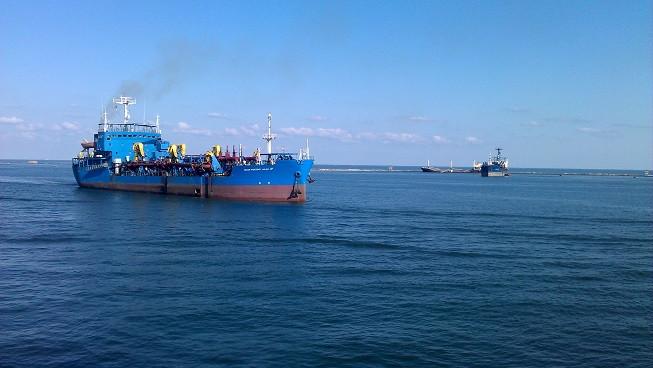 Tanker auf offenem Meer
