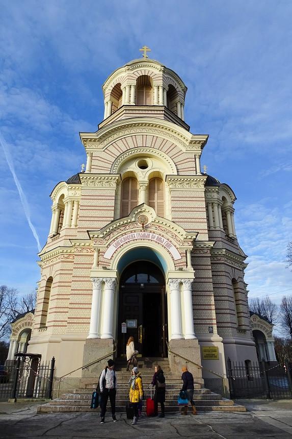 Eingang der Christuskirche in Riga