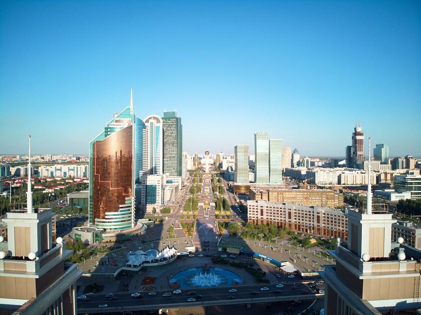 Blick auf Astana