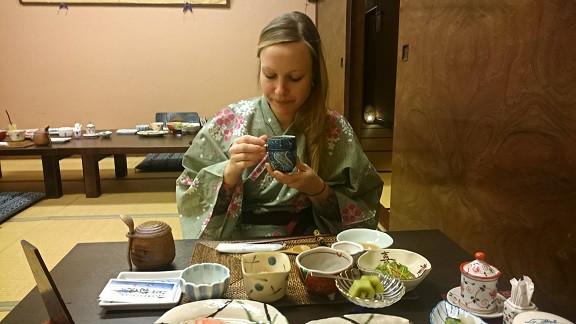 Authentisches Frühstück in einem Ryokan
