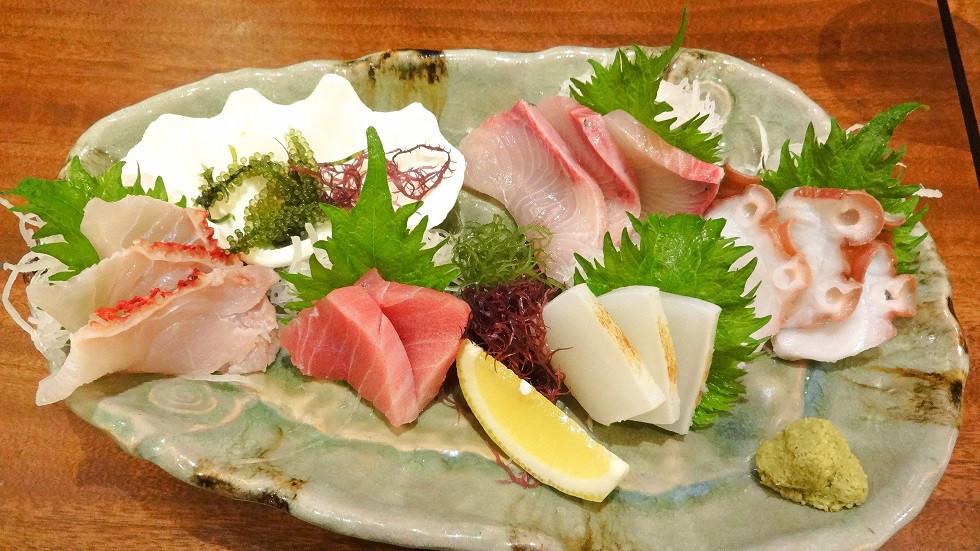Frisches Sashimi direkt aus dem Meer - Okinawa