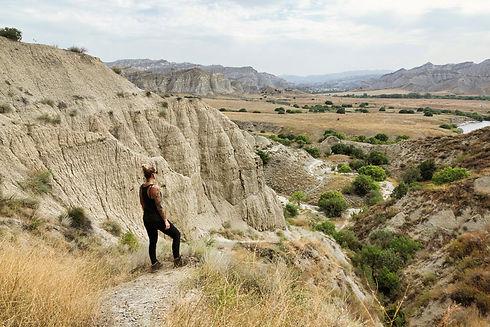 Bad Lands des Waschlowani Nationalparks Georgien