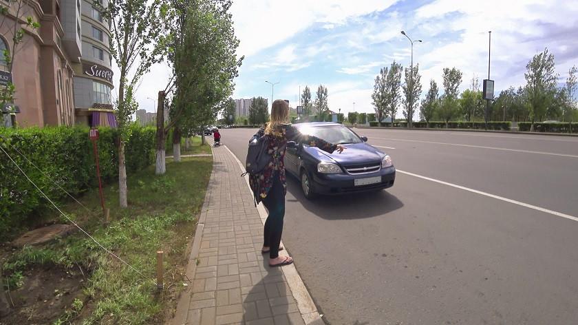 Autos anhalten in Astana
