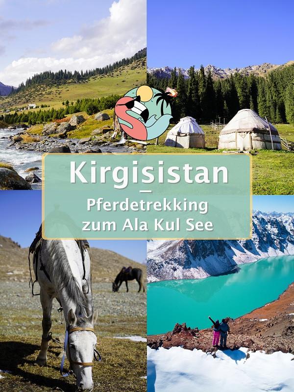 Pferdetrekking zum Ala Kul See - Kirgisistan Pin